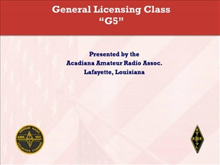 General Licensing Class  G5