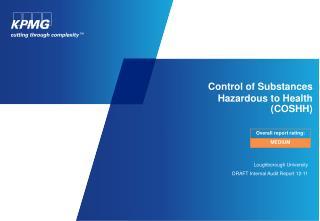 Control of Substances  Hazardous to Health  COSHH