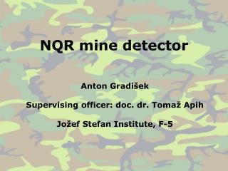 NQR mine detector