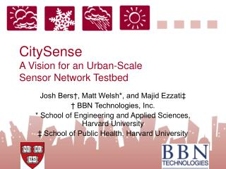 CitySense A Vision for an Urban-Scale Sensor Network Testbed