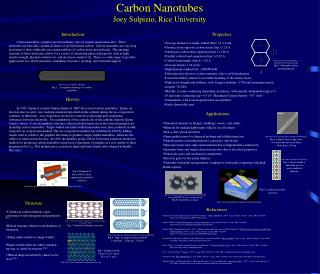Carbon Nanotubes Joey Sulpizio, Rice University