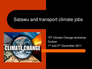 Satawu and transport climate jobs