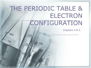 THE PERIODIC TABLE  ELECTRON CONFIGURATION