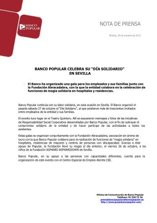 Ángel Ron y el Popular celebran el día solidario en Sevilla