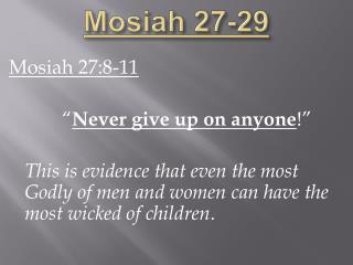 Mosiah 27-29