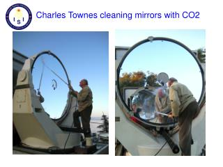 Charles Townes cleaning mirrors with CO2