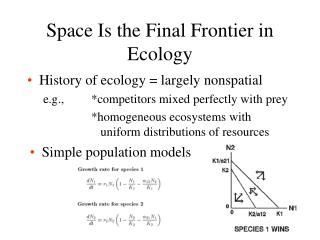 Space Is the Final Frontier in Ecology