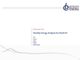 Weekly Energy Analysis for Week 47