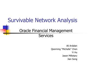 Survivable Network Analysis