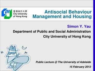 Antisocial Behaviour Management and Housing
