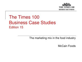 The Times 100  Business Case Studies Edition 15