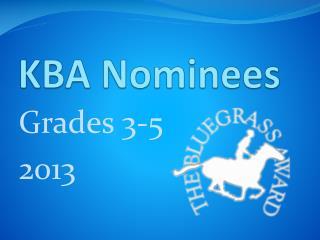 KBA Nominees