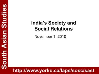 India s Society and  Social Relations