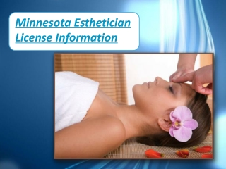 Minnesota Esthetician License Information