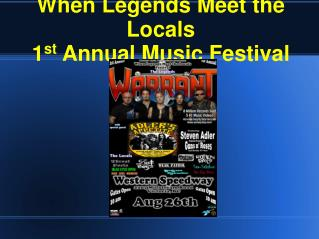 Be part of When Legends Meet the Locals Music Festival