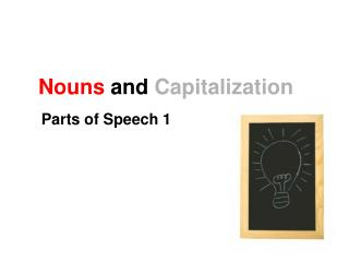Nouns and Capitalization