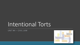 Defenses Privileges to Intentional Torts