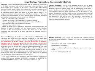 Lunar Surface Atmosphere Spectrometer LSAS