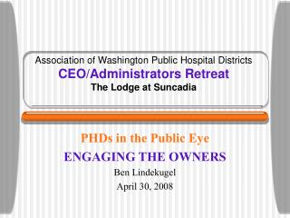 Association of Washington Public Hospital Districts CEO