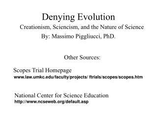 Denying Evolution