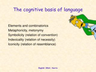 The cognitive basis of language