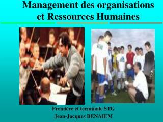 Management des organisations et Ressources Humaines