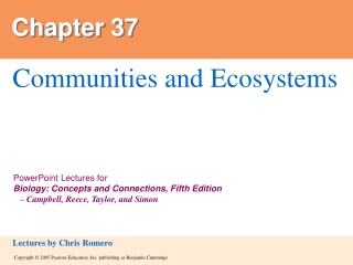 Communities and  Ecosystems
