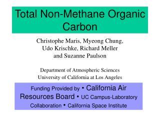 Total Non-Methane Organic Carbon