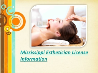 Mississippi Esthetician License Information