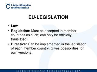 EU-LEGISLATION