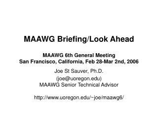 MAAWG Briefing