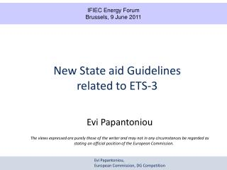 New State aid Guidelines  related to ETS-3