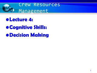 Crew Resources Management