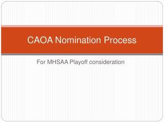 CAOA Nomination Process