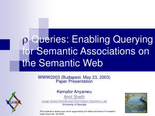 -Queries: Enabling Querying for Semantic Associations on the Semantic Web