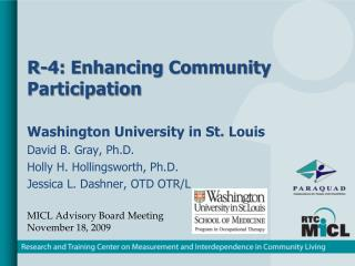 R-4: Enhancing Community Participation