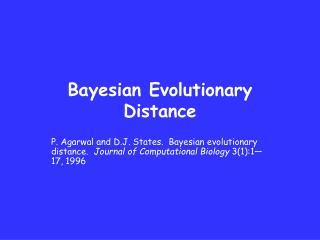 Bayesian Evolutionary Distance