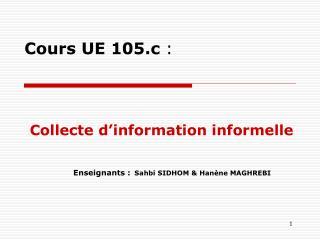 Cours UE 105.c :