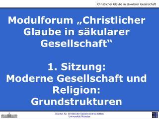 Institut f r Christliche Sozialwissenschaften Universit t M nster