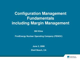 Configuration Management Fundamentals including Margin Management