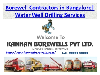 Borewell Contractors in Bangalore, Water Well Drilling