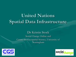 United Nations Spatial Data Infrastructure