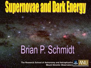 Supernovae and Dark Energy