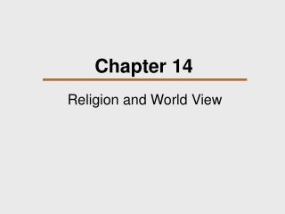 Religion and World View