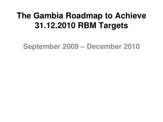 Roadmap in PPT format
