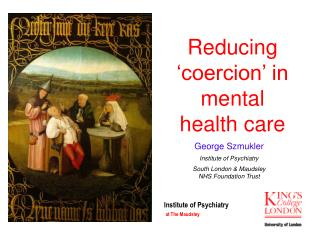 Reducing  coercion  in mental health care