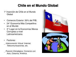 Chile en el Mundo Global