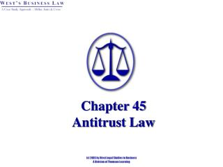 Chapter 45 Antitrust Law