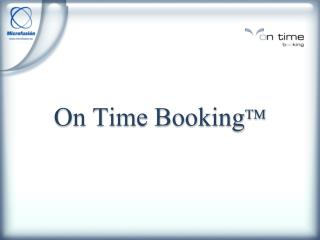 On Time Booking