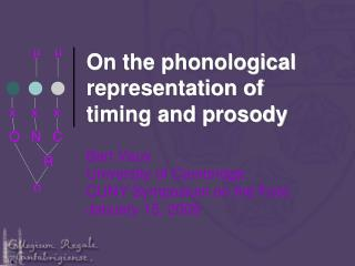 On the phonological representation of timing and prosody
